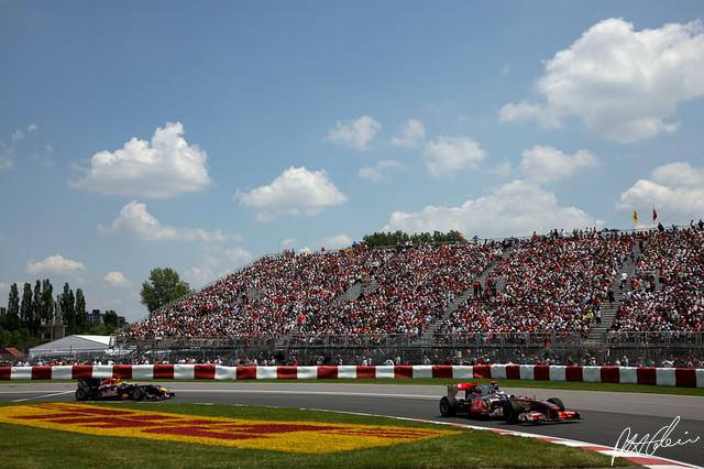 Button & Vettel, Canada 2010
